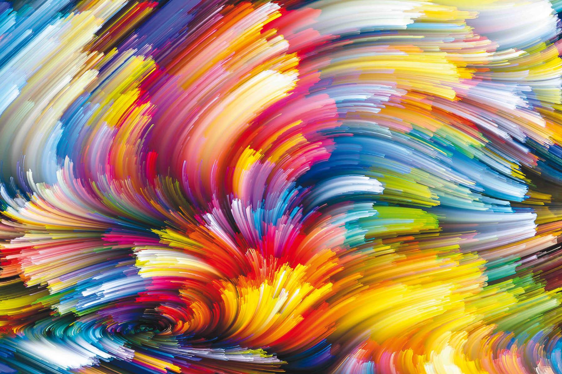 PlateART Duschrückwand mit Motiv Farbexplosion