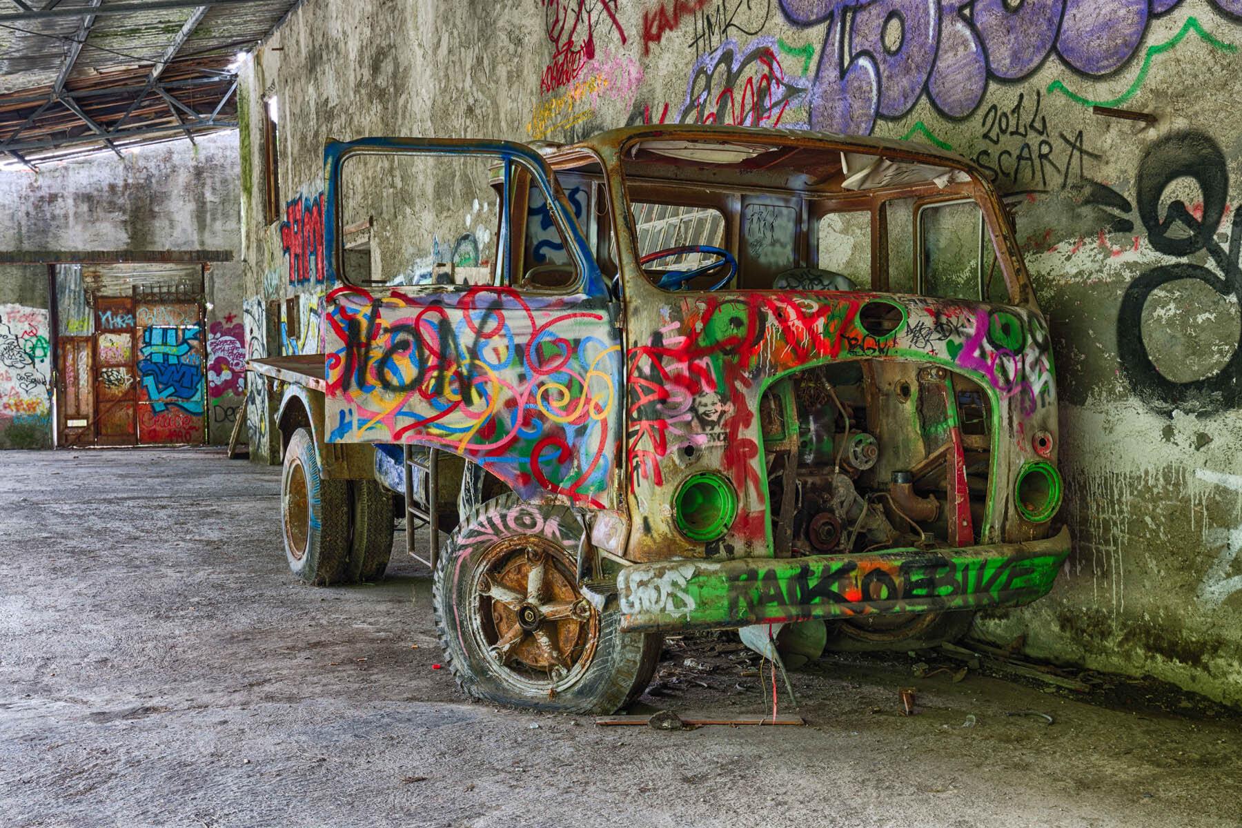 PlateART Duschrückwand mit Motiv Graffiti
