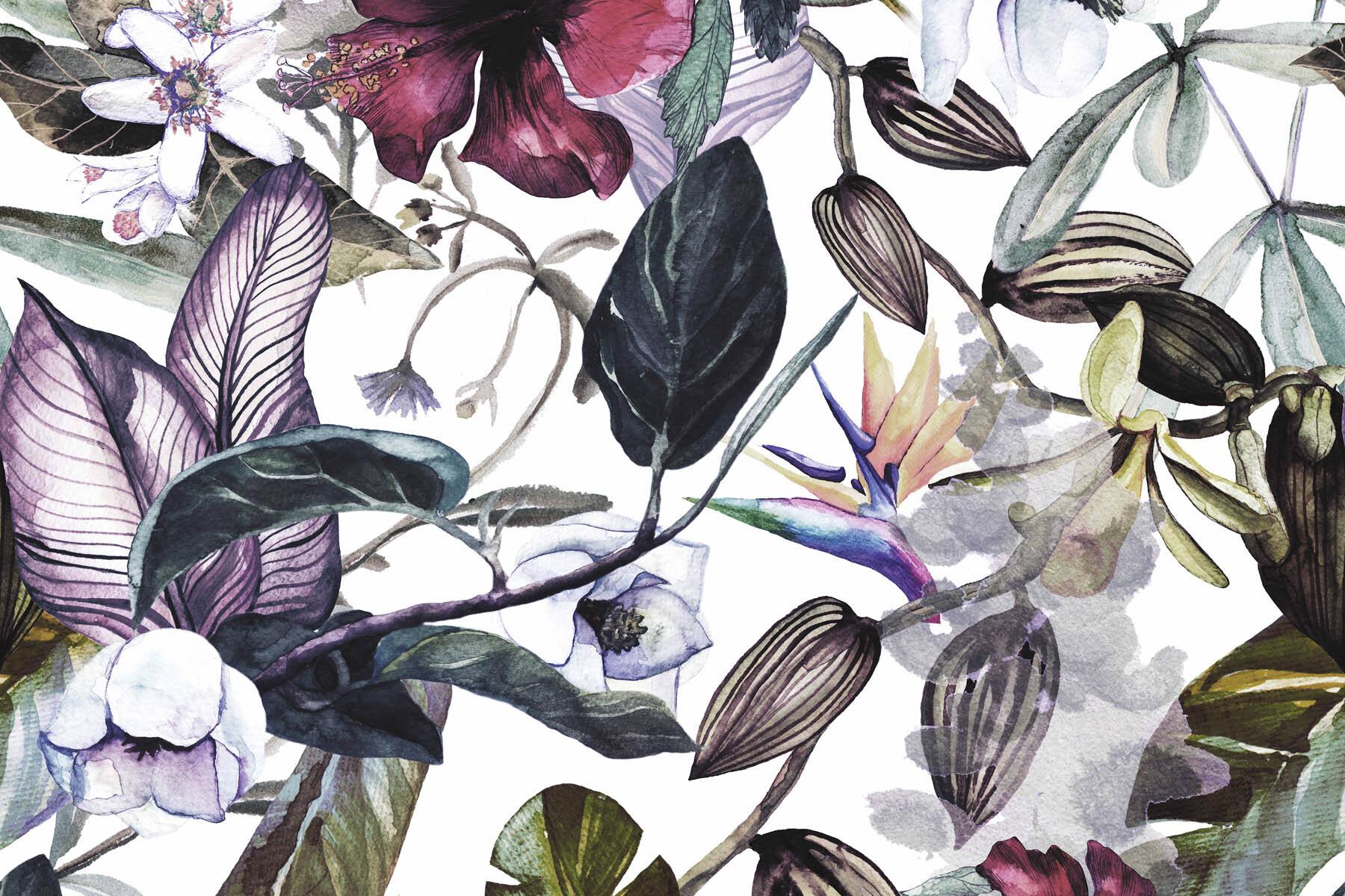 PlateART Wandverkleidung mit Motiv Blätter und Blüten