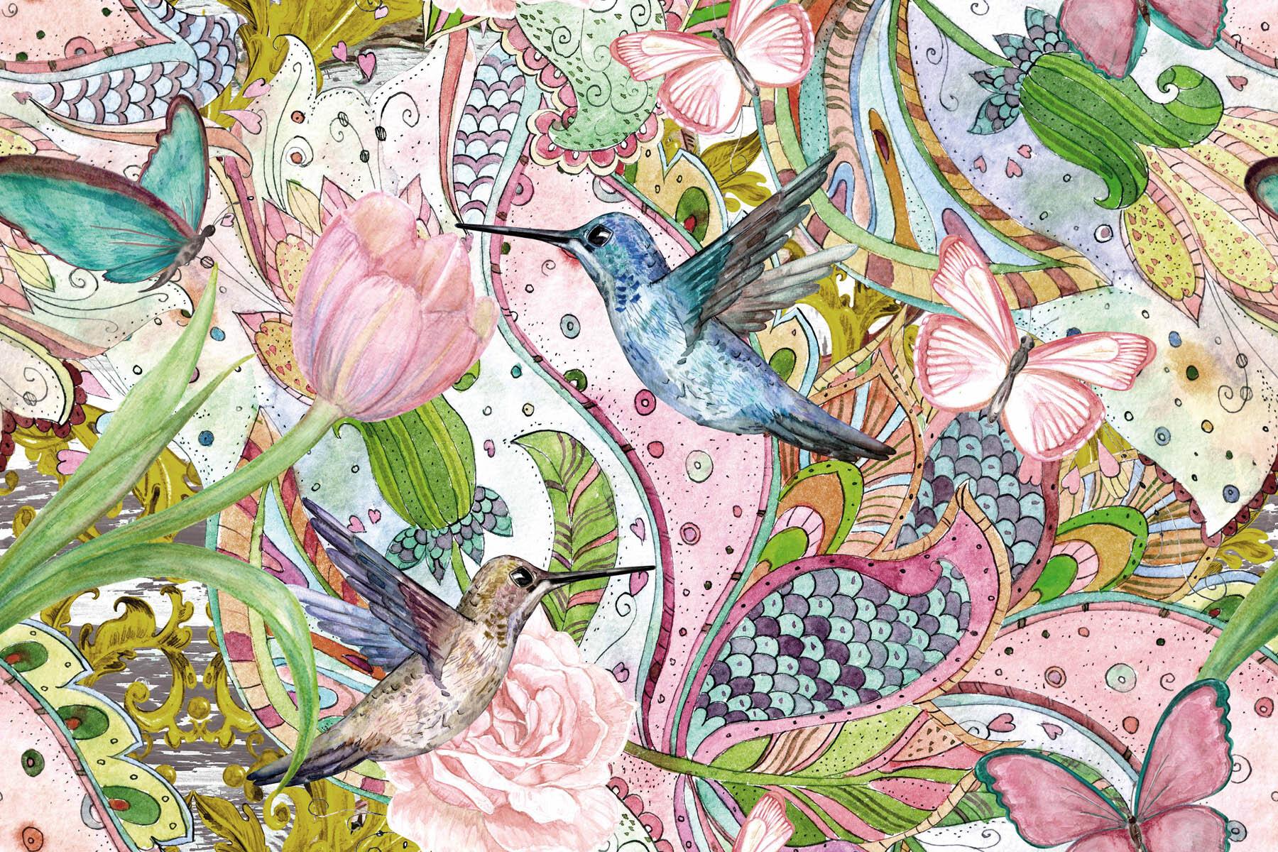 PlateART Duschrückwand mit Motiv Kolibri