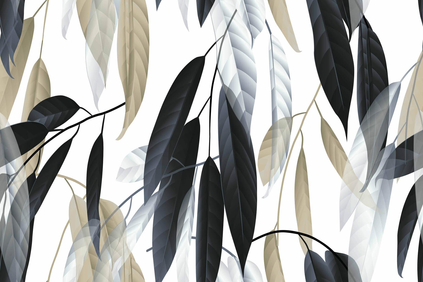 PlateART Wandverkleidung mit Motiv Blätter