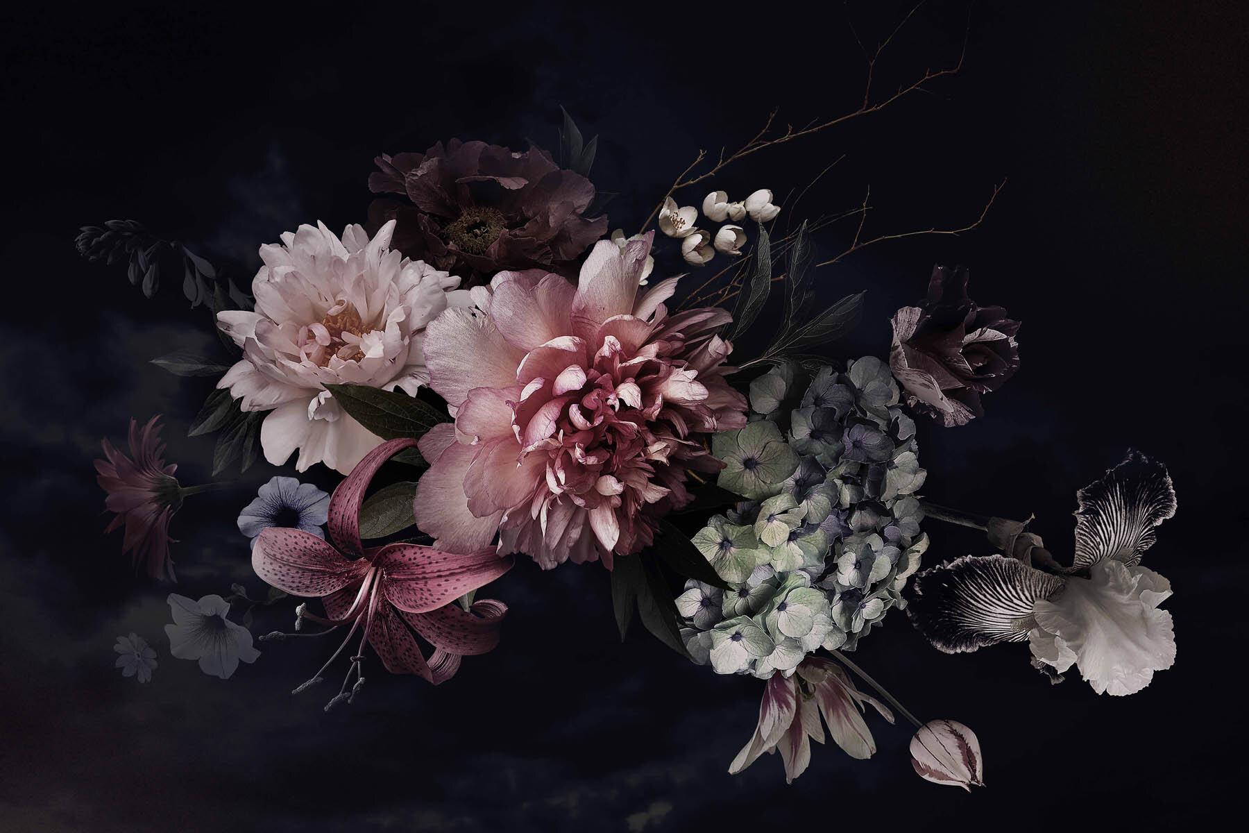 PlateART Wandverkleidung mit Motiv Blume und Blüten