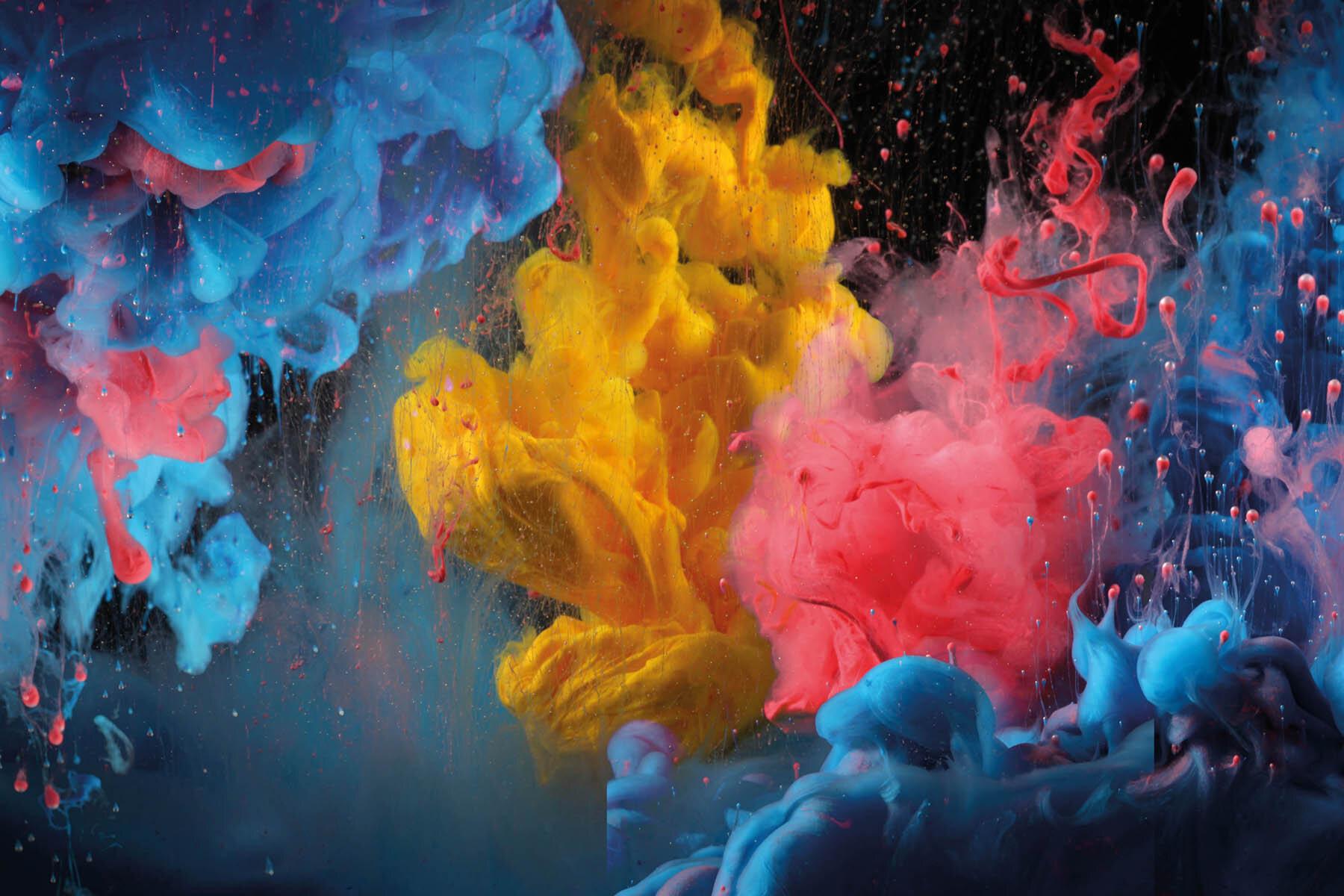 PlateART Duschrückwand mit Motiv Acrylfarben in Wasser
