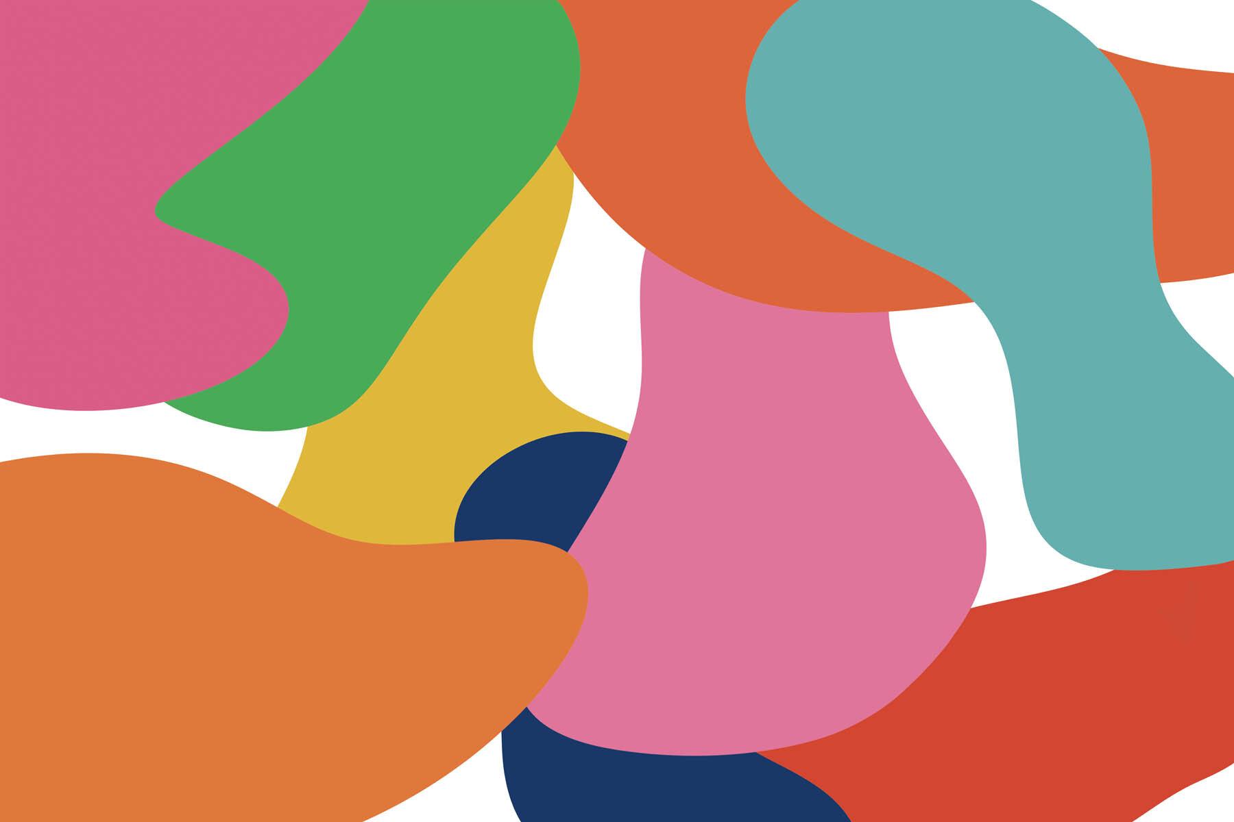 PlateART Duschrückwand mit Motiv Trendwand Farben