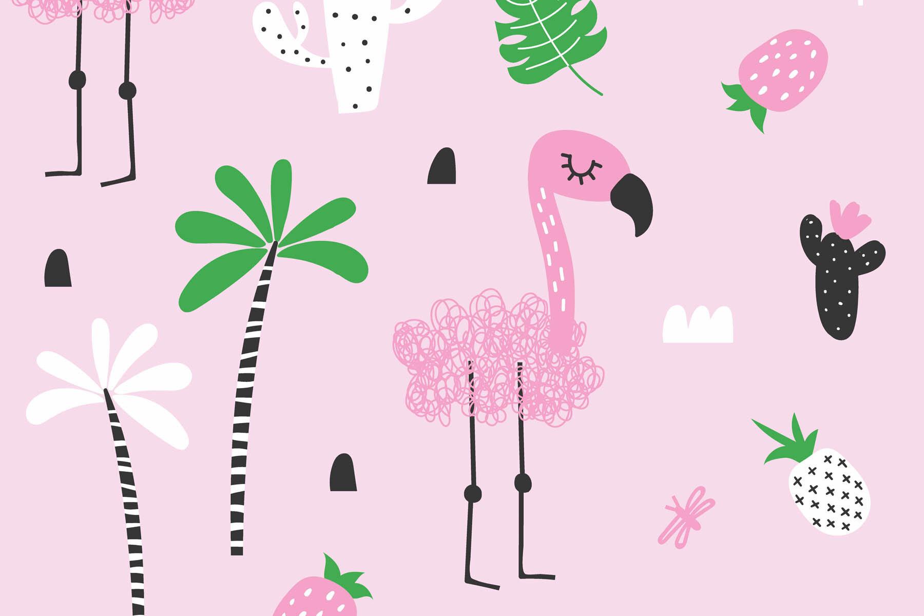 PlateART Duschrückwand mit Motiv Flamingo