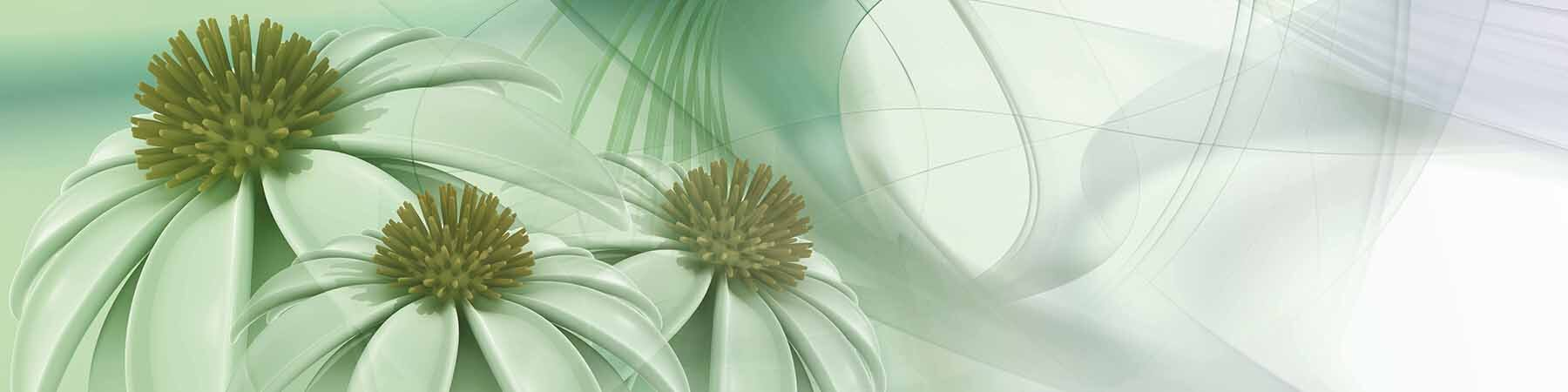 PlateART Wandverkleidung mit Motiv Blüten