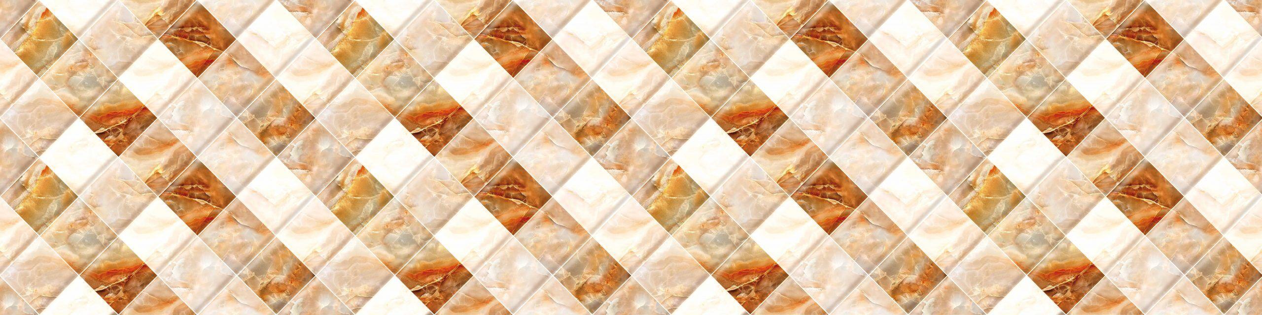 PlateART Küchenrückwand mit Motiv Marmor Beige Kacheln