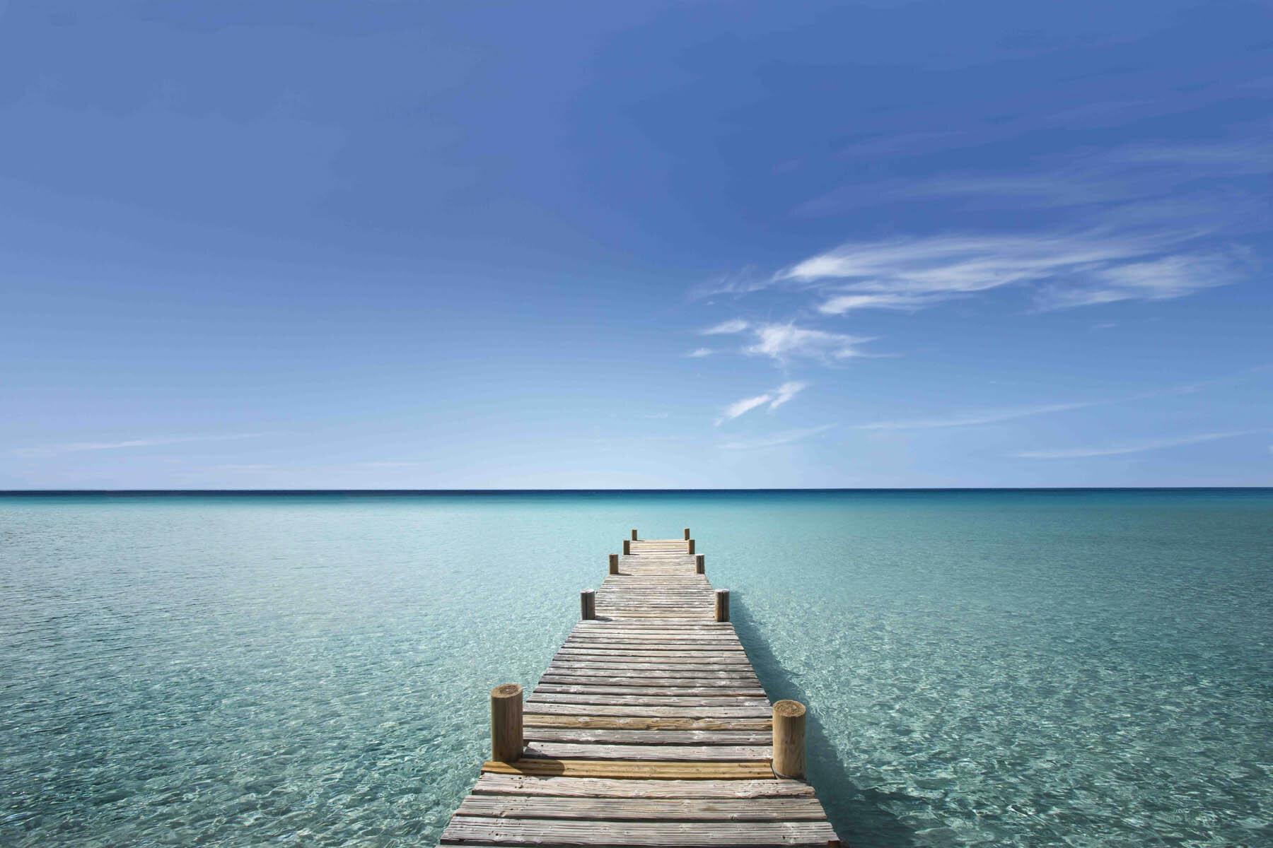 PlateART Duschrückwand mit Motiv Strand und Meer Steg Malediven K_05_16