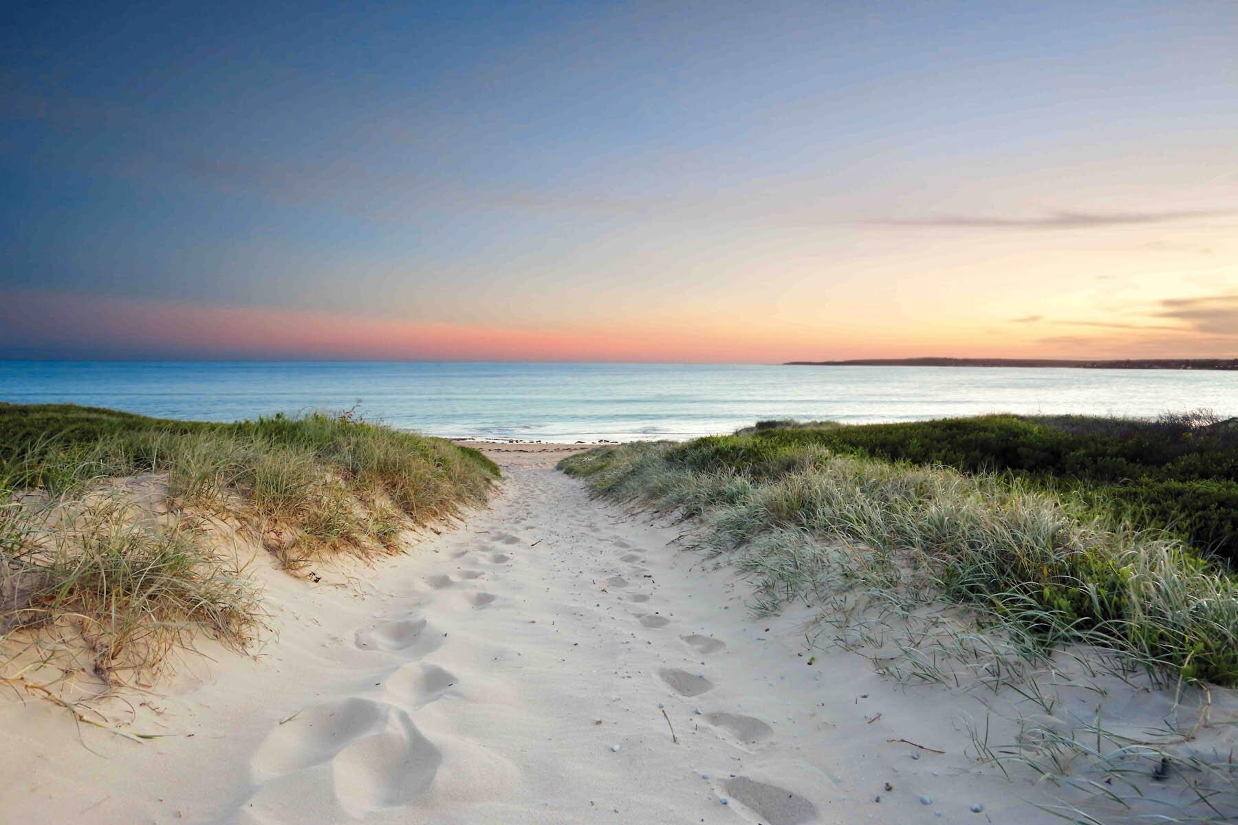 PlateART Duschrückwand mit Motiv Strand und Meer Düne