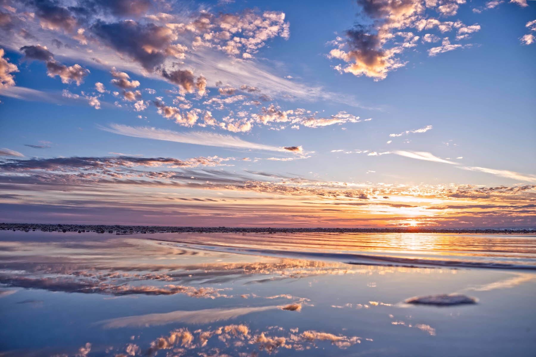 PlateART Duschrückwand mit Motiv Strand und Meer Abendstimmung