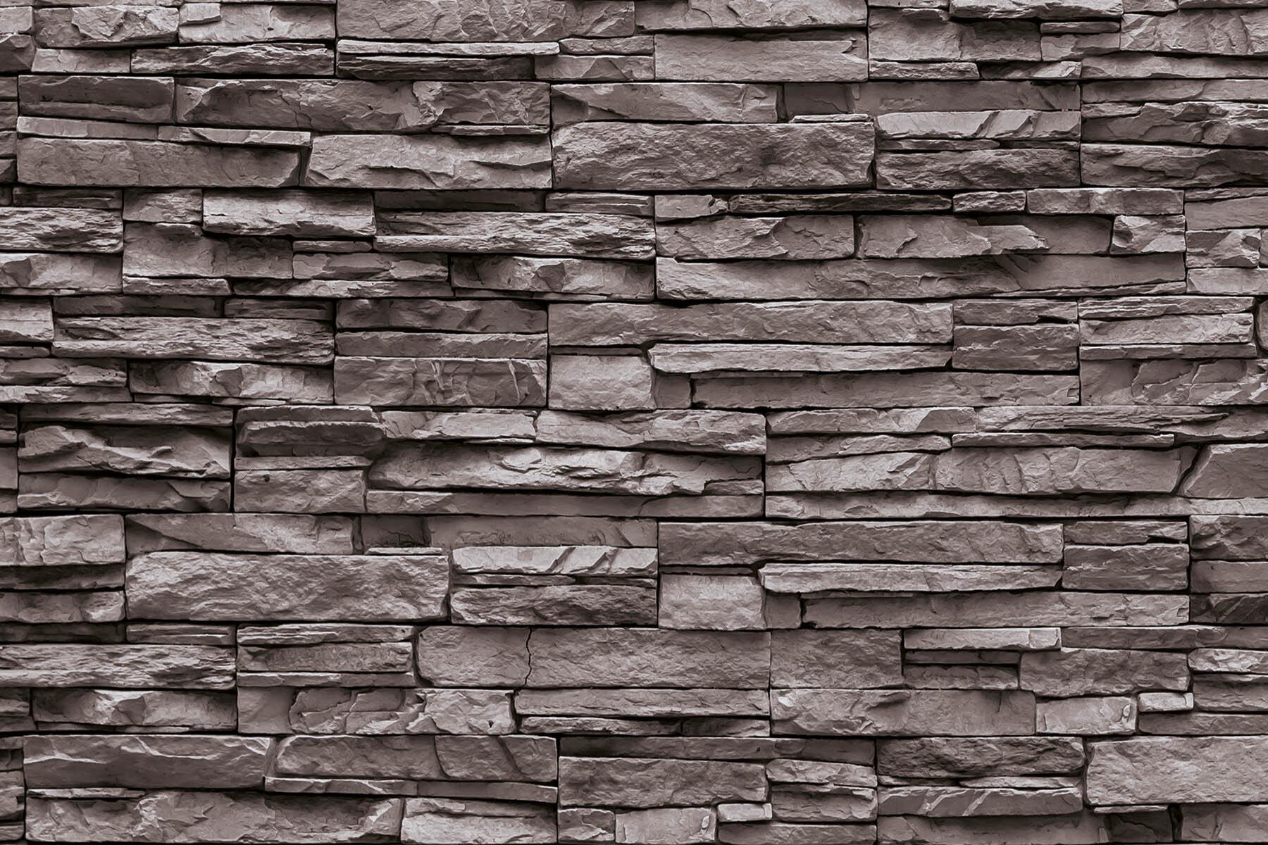 PlateART Duschrückwand mit Motiv Stein Rotbraun
