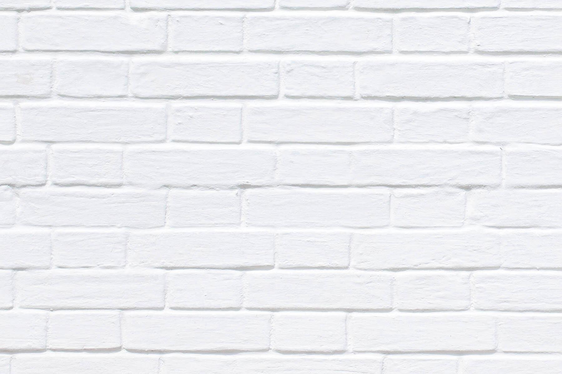 PlateART Duschrückwand mit Motiv Ziegel Weiß