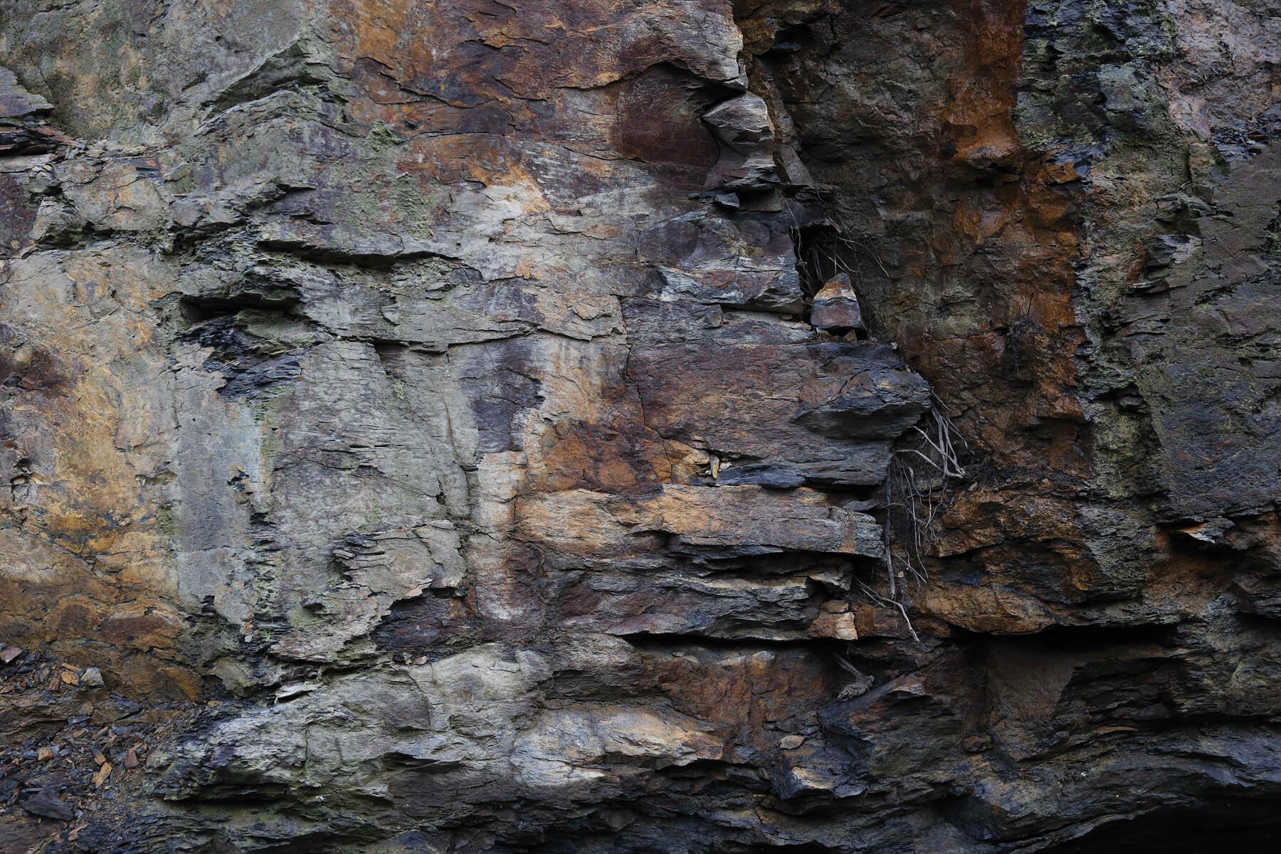 PlateART Duschrückwand mit Motiv Steinwand Fels