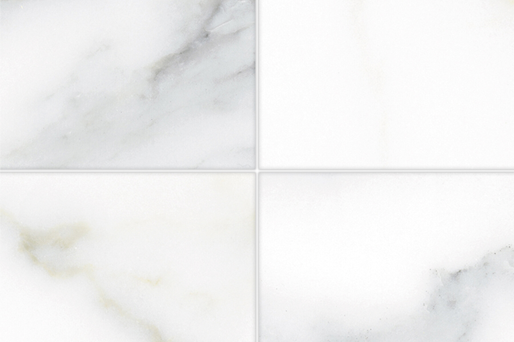 PlateART Duschrückwand mit Motiv Fliesenoptik Marmor Weiß