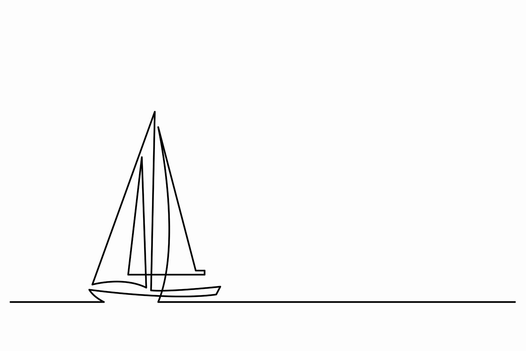 PlateART Wandverkleidung mit Motiv Segelboot