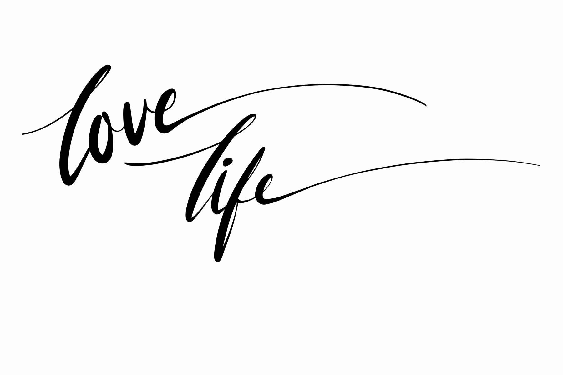 "PlateART Wandverkleidung mit Motiv ""Love Life"""
