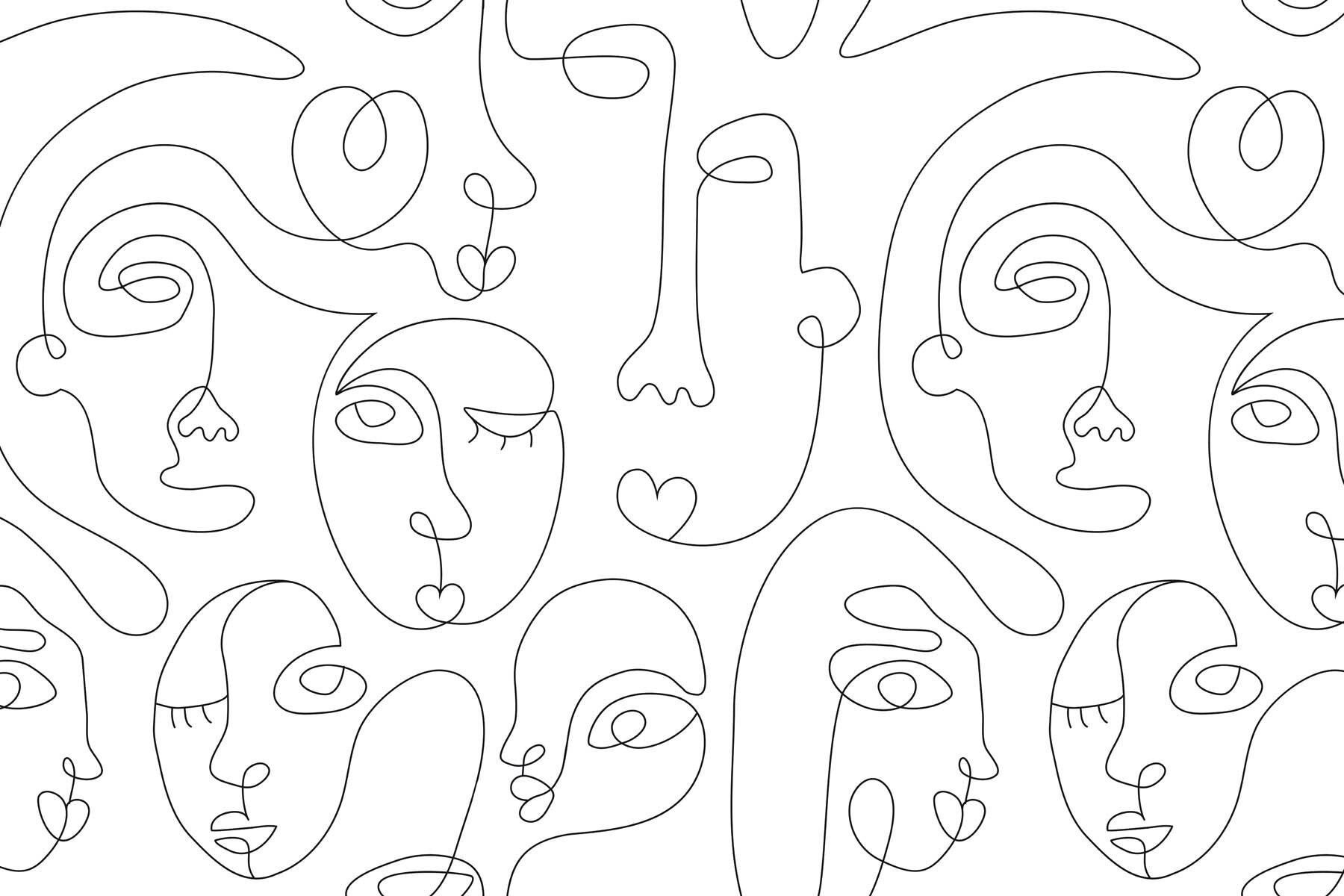 PlateART Wandverkleidung mit Motiv Gesichter
