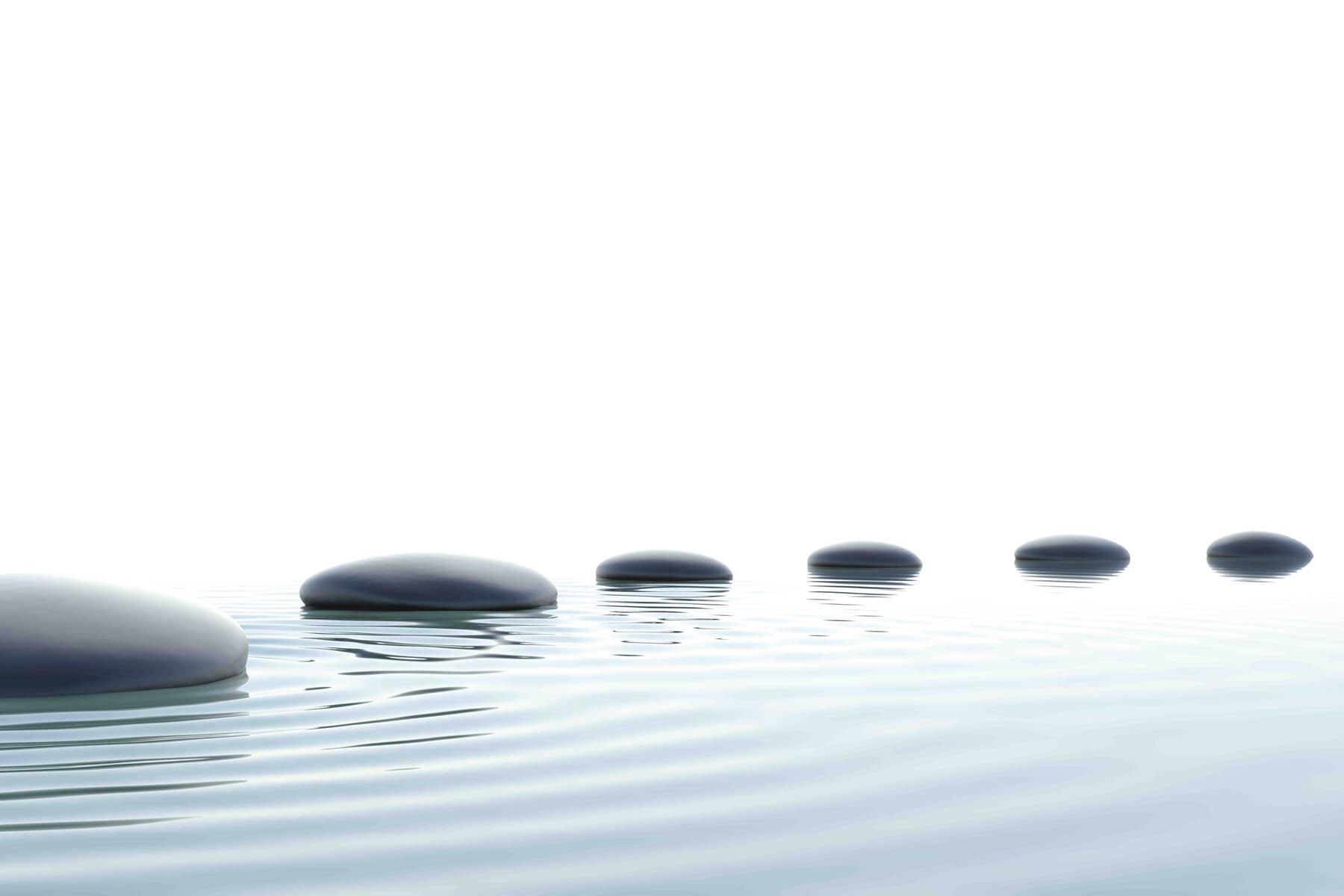 PlateART Duschrückwand mit Motiv Wellness ZEN Steine Wasser